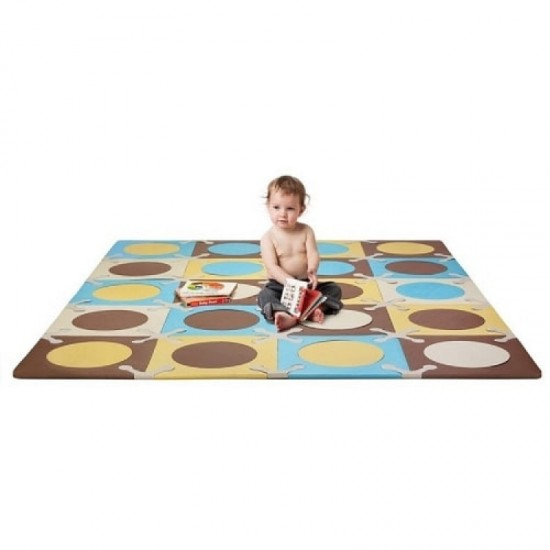 Skip*Hop Playspot Foam Floor Tiles - Blue/ Gold