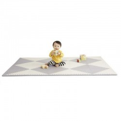 Skip Hop Geo Playspot Foam Floor Tiles - Grey / Cream
