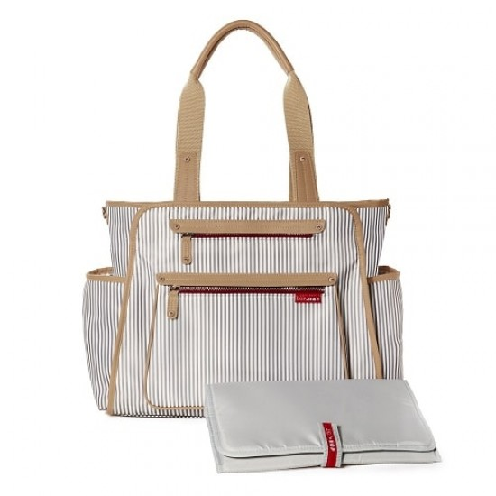Skip*Hop Grand Central Take-it-all Diaper Bag - French Stripe
