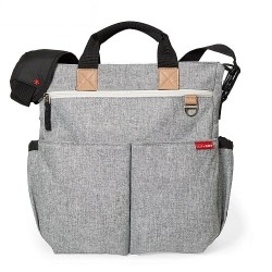 Skip Hop Duo Signature Diaper Bag - Grey Melange