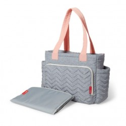 Skip Hop Five Star Mommy Bag Tote - Dove Grey