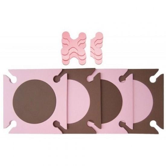 Skip*Hop Playspot Foam Floor Tiles - Pink / Brown