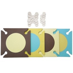 Skip Hop Playspot Foam Floor Tiles - Blue/ Gold
