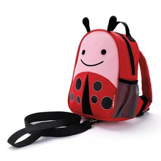 Skip*Hop Zoo-let Mini Backpack With Rein - Ladybug