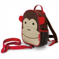 Skip Hop Zoo-let Mini Backpack With Rein - Monkey