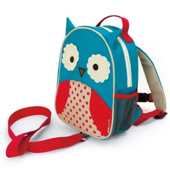 Skip Hop Zoo-let Mini Backpack With Rein - Owl