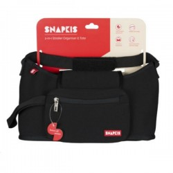 Snapkis 2-In-1 Stroller Organiser & Tote - Black