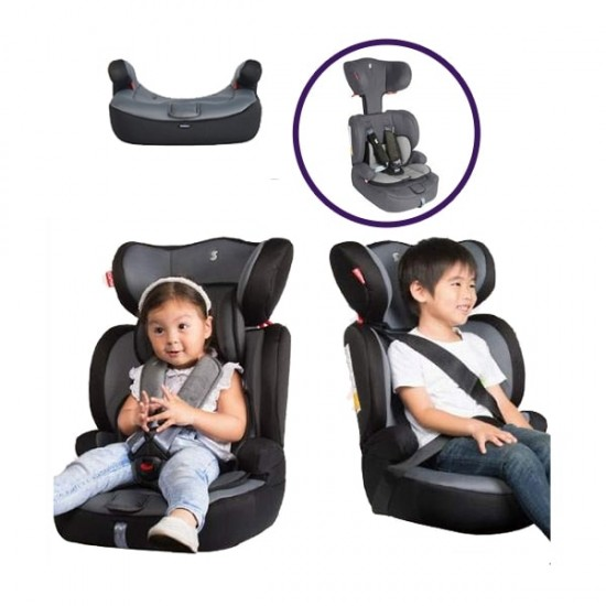 Snapkis Steps 1-11 Carseat - Melange Grey / Black