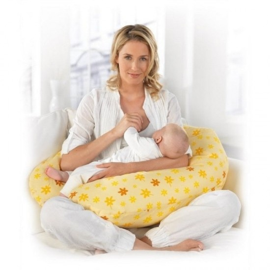 Theraline The Original Maternity and Nursing Pillow - Yellow Flower