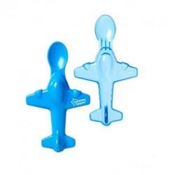Tommee Tippee 2 aeroplane spoons - Blue