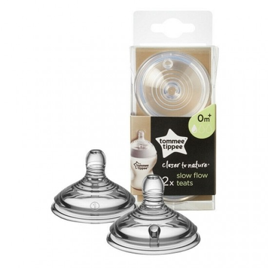 Tommee Tippee Closer to Nature Slow Flow Teats - 0m+