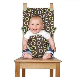 Totseat washable, squashable highchair - Chocolate