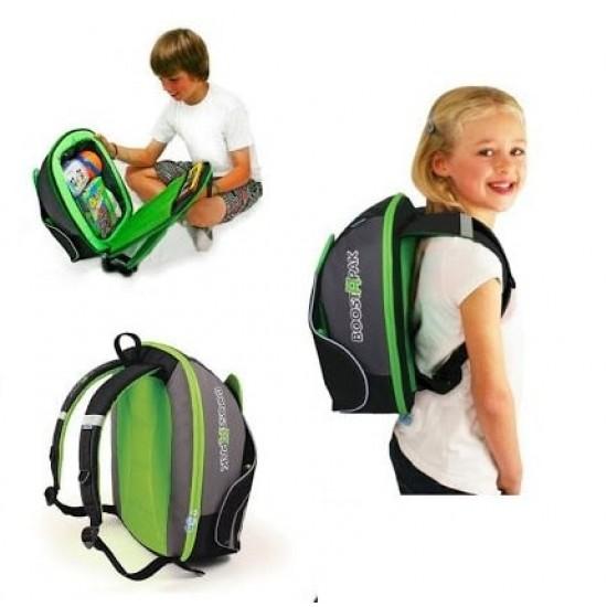 Trunki BoostApak car seat and back pack - Green