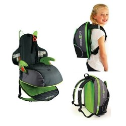Trunki BoostApak car seat and back pack - Green
