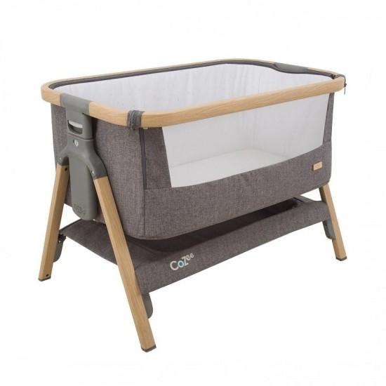 Tutti Bambini CoZee Bedside Crib - Oak/ Charcoal