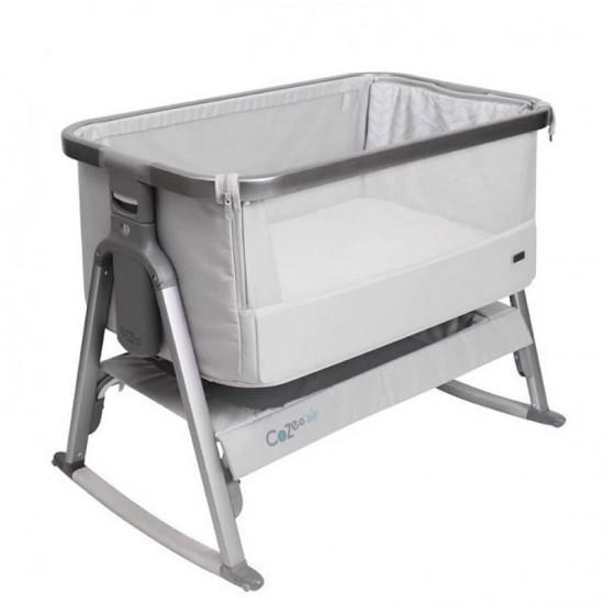Tutti Bambini CoZee Bedside Crib with Rocking Feet - Space Grey & Slate
