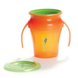 WOW Baby Translucent Spill Free Training Cup - Orange