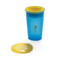 WOW Cup for Kids Translucent Spill Free Tumblers - Blue