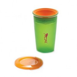 WOW Cup for Kids Translucent Spill Free Tumblers - Green