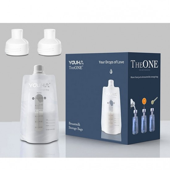 Youha The ONE Breastmilk Storage Bag - 40 pcs with 2 adapters