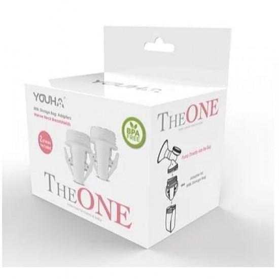 YouHa Milk Storage Bag Adapters (Narrow Neck) - 2 pcs