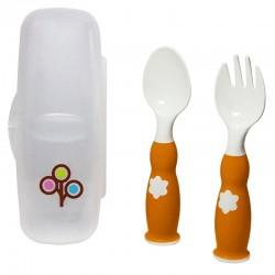 Zoli Fork & Spoon Set - Orange